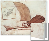 Machine volante Posters par  Leonardo da Vinci