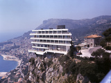Vistaero Hotel Perched on the Edge of a Cliff Above Monte Carlo, Monaco Photographic Print by Ralph Crane