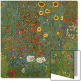 Farm Garden with Sunflowers, 1905-06 Prints by Gustav Klimt