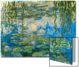 Waterlilies, 1916-1919 Stampe di Claude Monet