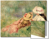 Young Girls on the River Bank Prints by Pierre-Auguste Renoir