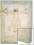 L'Homme de Vitruve, vers 1492 Poster par  Leonardo da Vinci