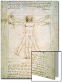 Den vitruviske mann, ca. 1492 Plakat av  Leonardo da Vinci