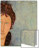 Woman with Blue Eyes, C.1918 Posters by Amedeo Modigliani