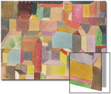 Medieval Town, 1915 Juliste tekijänä Paul Klee