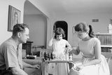 Colonel John Paul Stapp at Home Playing Chess with His Family, Dayton, Oh, 1959 Photographic Print by Franci Miller
