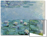 Water Lilies, Nympheas Print by Claude Monet