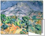 Mont Saint Victoire, 1900 Print by Paul Cézanne