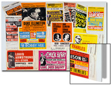 Collection of 1960's Odeon Concert Hall Bills, Including the Beach Boys, Duke Ellington, Ella Affiches