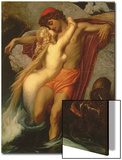 The Fisherman and the Syren: from a Ballad by Goethe, 1857 Poster von Frederick Leighton