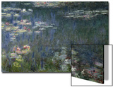 Waterlilies: Green Reflections, 1914-18 (Left Section) Stampe di Claude Monet