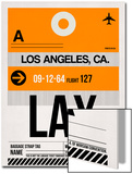 LAX Los Angeles Luggage Tag 2 Prints by  NaxArt