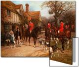 The Meet, Ye Olde Wayside Inn Poster by Heywood Hardy