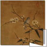 Blue Bird on a Plum Branch with Bamboo (13th/14th Century) Posters