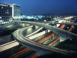 Los Angeles Freeway Evening Long Exposure, 1959 Photographic Print by Ralph Crane