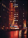 1945: Radio City Music Hall Lit Up at Night, New York, Ny Photographic Print by Andreas Feininger