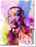 Martin Luther King Watercolor Poster by Anna Malkin