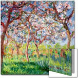 Printemps a Giverny, 1903 Prints by Claude Monet