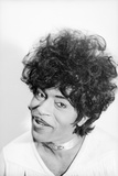 Singer and Musician Little Richard Posing in Mod Fringed Shirt, 1971 Photographic Print by Ralph Morse