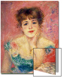 Portrait of the Actress Jeanne Samary, 1877 (Study) Art by Pierre-Auguste Renoir