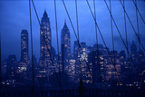 1945: New York Skyline View During Twilight Hours Photographic Print by Andreas Feininger