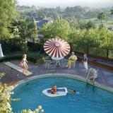 1959: a Family at their Backyard Swimming Pool Photographic Print by Frank Scherschel