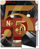 I Saw the Figure 5 in Gold Posters by Charles Demuth