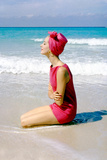 June 1956: Woman Modeling Beach Fashions in Cuba Photographic Print by Gordon Parks