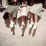 Oakland High School Teenage Girls, Oakland, CA, 1950 Fotografisk tryk af Loomis Dean