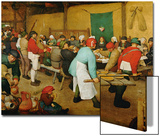 Peasant Wedding (Bauernhochzeit), 1568 Art by Pieter Bruegel the Elder