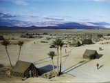 Elevated View of a Us Military Camp, Sahara, 1943 Photographic Print by Margaret Bourke-White