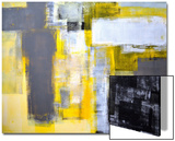Grey And Yellow Abstract Art Painting Poster by  T30Gallery