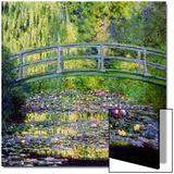 Estanque de nenúfares con puente japonés, 1899 Láminas por Claude Monet