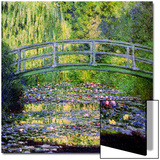 The Waterlily Pond with the Japanese Bridge, 1899 Print by Claude Monet