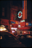 1945: a Night Image of Beef Steak Charlie's Restaurant on 50th and Broadway, New York, NY Photographic Print by Andreas Feininger