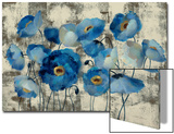 Aquamarine Floral Posters by Silvia Vassileva