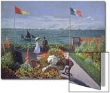 The Terrace at Sainte-Adresse, 1867 Affiche par Claude Monet
