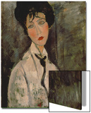 Woman with Black Tie, 1917 Posters by Amedeo Modigliani