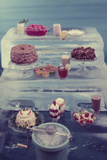 View of a Variety of Desserts Arranged on Blocks of Ice, 1960 Photographic Print by Eliot Elisofon