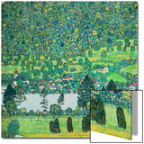 Waldabhang in Unterach Am Attersee, 1917, Slope in a Forest on Atterse-Lake Poster by Gustav Klimt