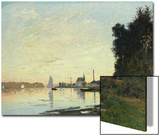 Argenteuil, Late Afternoon, 1872 Print by Claude Monet
