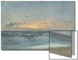 Sunset over the Sea, 1900 (Oil on Board) Prints by William Pye