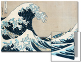"The Great Wave of Kanagawa, from the Series ""36 Views of Mt. Fuji"" (""Fugaku Sanjuokkei"") Art by Katsushika Hokusai"