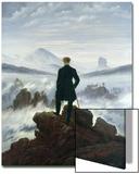 El caminante sobre el mar de nubes, 1818 Láminas por Caspar David Friedrich