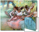 Four Ballerinas on the Stage Affiches par Edgar Degas