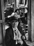 1949: Jess Motlow, Owner of Jack Daniels Distillery, Tennessee Fotografisk tryk af Ed Clark