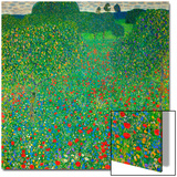 Poppy Field, 1907 Poster by Gustav Klimt