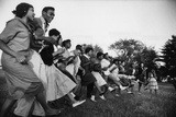 African American Students Dancing Together Photographic Print by Grey Villet