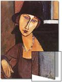 Jeanne Hebuterne Wearing a Hat, 1917 Posters by Amedeo Modigliani