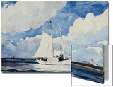 Fishing Schooner, Nassau Prints by Winslow Homer